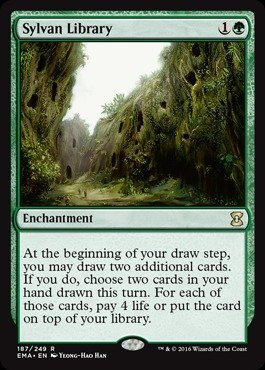 Magic The Gathering - Sylvan Library - Eternal Masters from Magic The Gathering