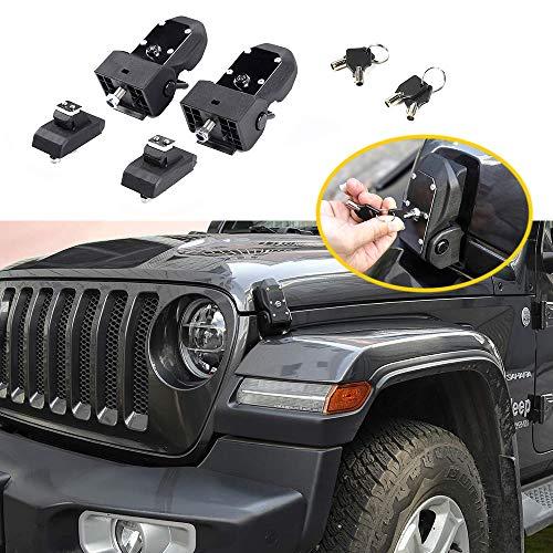 Super repairman 2019 Jeep Wrangler JL Original Latch Locking Hood Catch Kit for Jeep Wrangler 2007-2018 JK JL (Hood Lock Key)