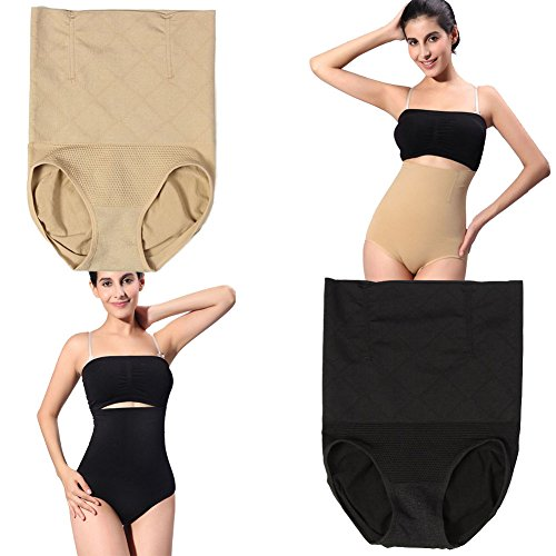 [2-pack High Waist Tummy Control Slimming Panties 360 (XL)] (Genie Outfit)