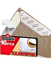 Rug Grippers X-PROTECTOR - 16 pcs Anti Curling Сarpet Stickers. Keeps Your Rug in Place & Makes Corners Flat. Premium Rug Tape Gripper with Renewable Carpet Tape - Ideal Non Slip Rug Pad for Your Rug!