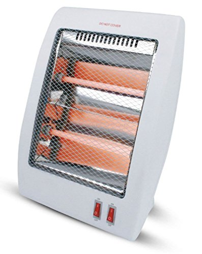 DLUX Infrared Quartz Space Heater Energy Efficient Quite 400/800 Watts Infrared Heaters