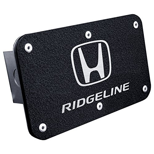Upgrade Your Auto Rugged Black Class III Trailer Hitch Plug with Honda Ridgeline Logo engraving by Upgrade Your Auto