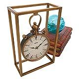 Design Toscano Industrial Age Mantel Clock, 21.5 cm, Metalware, Brass