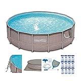 4 feet swimming pools - Summer Waves Elite Wicker Print 16'x4' Above Ground Pool + Pump + 12 Cartridges