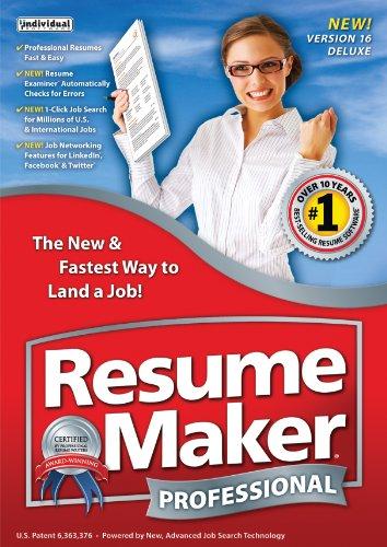 Amazon.com: ResumeMaker Professional Deluxe 16 [Download]: Software