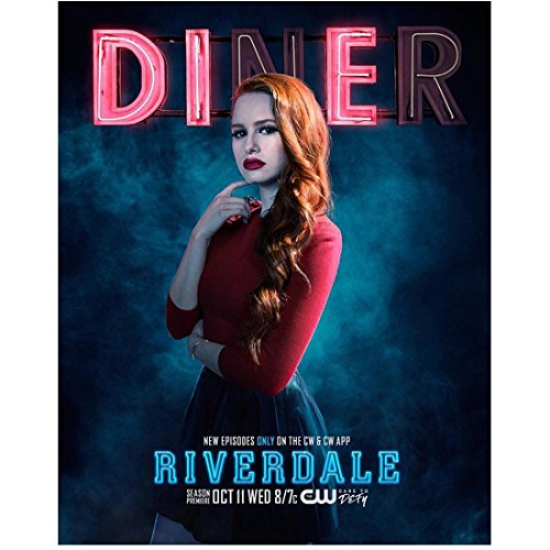 Riverdale Madelaine Petsch as Cheryl Blossom Standing One Hand Raised to Lips 8 x 10 Inch Photo