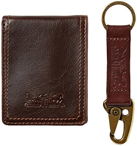 Levi's  Men's  Wallet with Gift Set,Brown with Key Fob