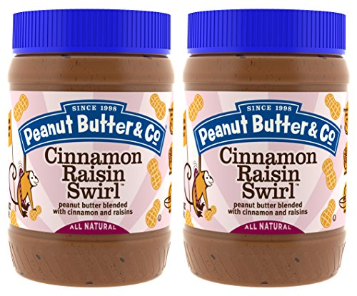 Swirl Peanut Butter Chocolate (Peanut Butter & Co. Cinnamon Raisin Swirl Peanut Butter, Non-GMO, Gluten Free, Vegan, 16 Ounce Jars (Pack of 2))