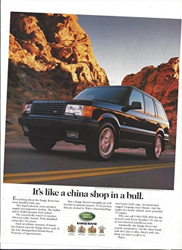 MAGAZINE ADVERTISEMENT For Black 1999 Black Range Rover China - Shops Chino The Hills