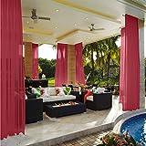 cololeaf Rod Pocket Sheer Curtains Indoor Outdoor For Living Room | Bedroom | Kidsroom | Classroom| Hotel - Burgundy 100'' W x 102'' L (1 Panel)