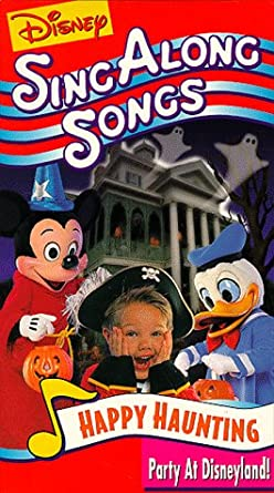 Amazon Com Happy Haunting Disney Sing Along Songs Vhs Disney