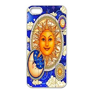 Sun Moon Pattern Unique Design Cover Case for Iphone 5,5S,custom case cover ygtg543085