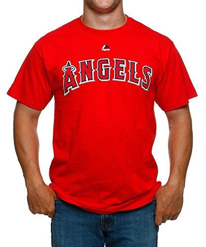 Los Angeles Angels of Anaheim MLB Men's Wordmark Crew Neck T-Shirt (Medium)