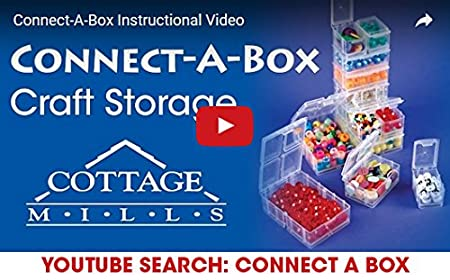 Small item storage system that connects and stacks 2 Packages of 6. findings and parts Perfect for little things like beads Medium Connect-A-Box/® 12 pcs from Cottage Mills