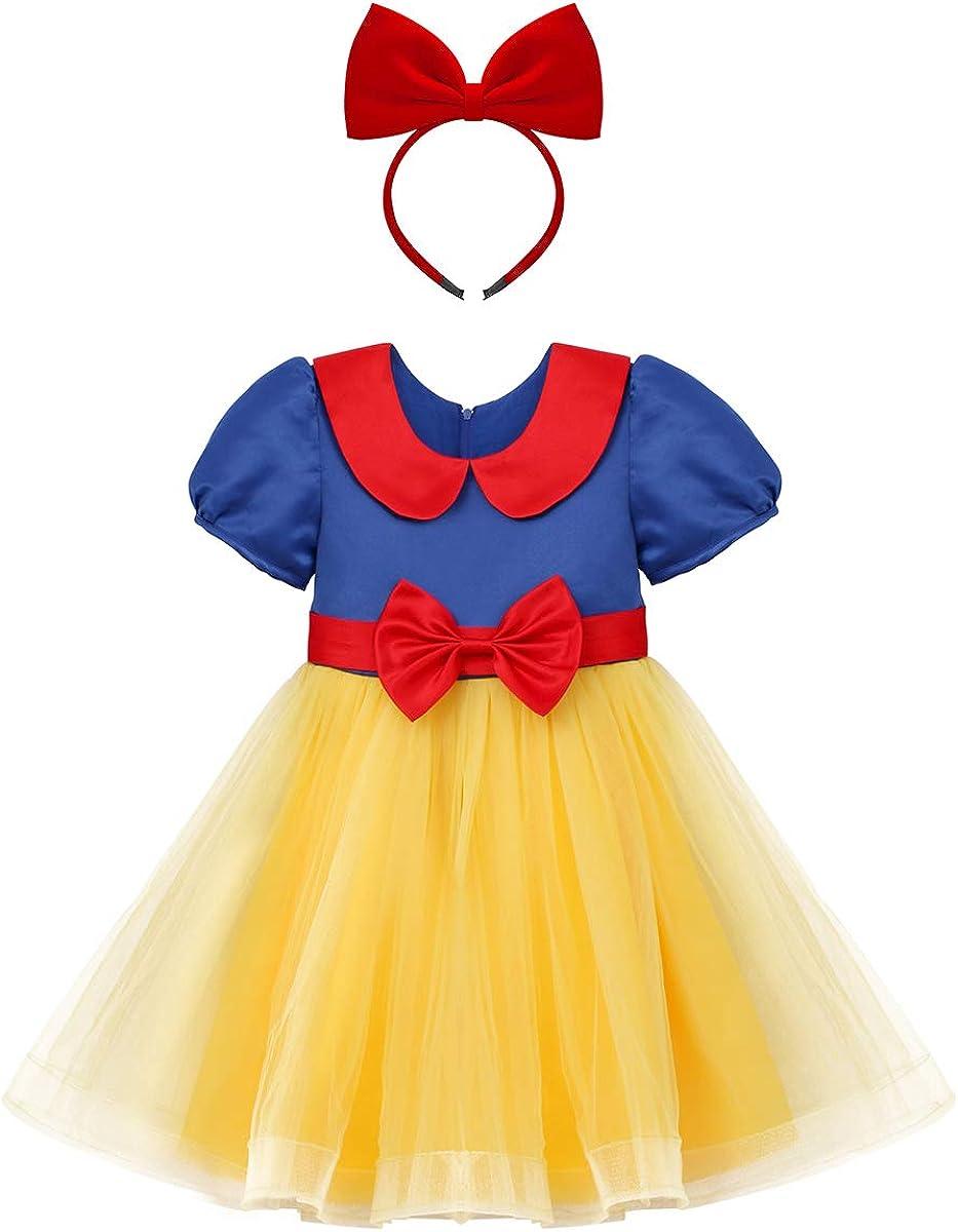 OBEEII Niñas Blancanieves Princesa Vestido Cosplay para Ceremonia ...