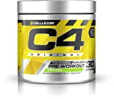 Cellucor C4 Original Pre Workout Powder Energy Drink w/ Creatine, Nitric Oxide & Beta Alanine, Green Apple, 30 Servings