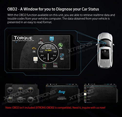 XTRONS Android 6.0 Octa-Core 64Bit 7 Inch Capacitive Touch Screen Car Stereo Radio DVD Player GPS CANbus Screen Mirroring Function OBD2 Tire Pressure Monitoring for Jeep Dodge Chrysler by XTRONS (Image #9)