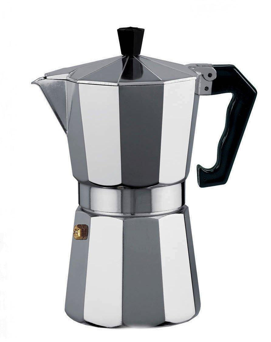 Borella Casalighi Polo Cafetera de 6 Tazas, Aluminio, Gris: Amazon ...
