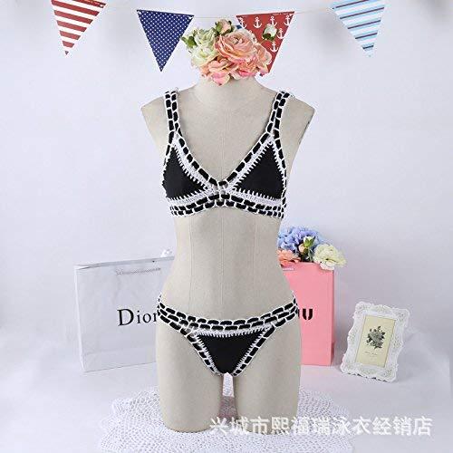 Bikini Taglia Knitting Unica Nero Sexy Come Mostrato S colore Swimwear Zhrui Western Mostrato Dimensione FwPqdF