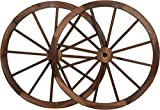 Decorative Vintage Wood Garden Wagon Wheel with steel Rim - 30