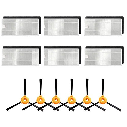 Large Product Image of Replacement Parts for Ecovacs DEEBOT N79 Robotic Vacuum Cleaner Accessories - Filters+ Side Brush (Pack of 18)