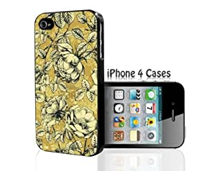 Yellow Floral iPhone 4/4s case