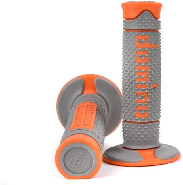Domino poign/ées tout-terrain gris//orange