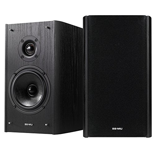 E-MU XM7 Passive Bookshelf Speakers, Black Wood Grain by Emu