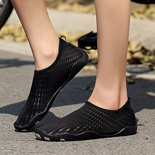 zapatos rafting suave Zapatos claro zapatos natación buceo rápido playa piel de Lucdespo de respiración buceo la de secado Negro y rojos rafting zapatos xn6PgS