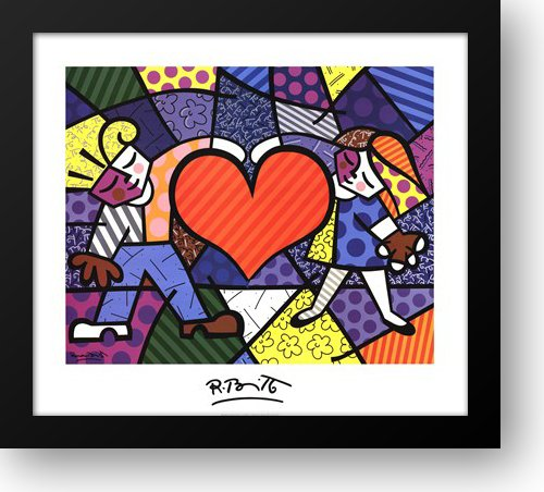 Heart Kids 36x32 Framed Art Print by Britto, Romero
