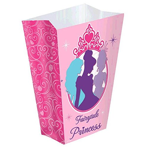 Disney Princess Boutique Shaped Birthday Party Favour Boxes (16 Pack), Pink, 5 1/4
