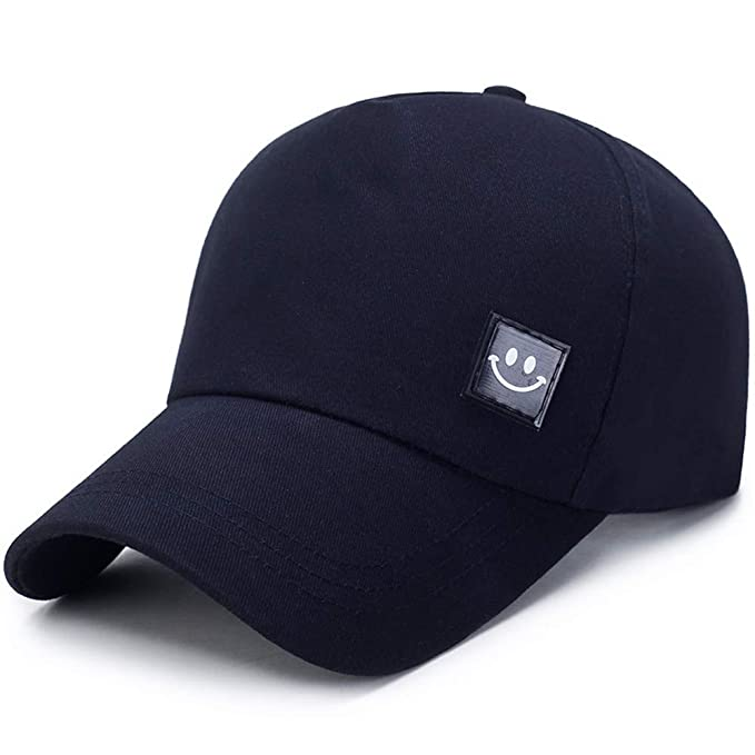 Gorra de béisbol Unisex, Unisex Hombres Mujeres Sonrisa Snapback Sombrero Hip-Hop Gorras Ajustables