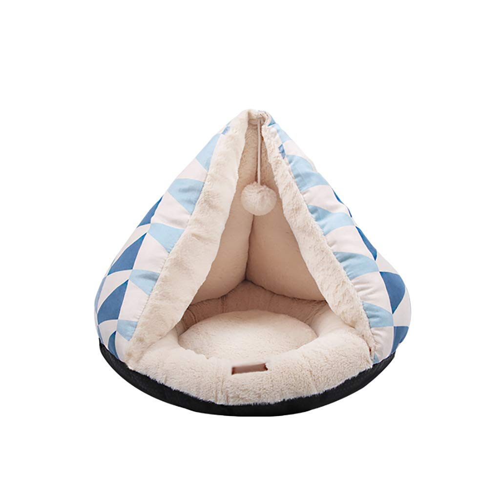 Pet house kennel Cat nest Closed type Small dog washable pet nest Pet bed Pet mat Soft comfortable Keep warm Four seasons available