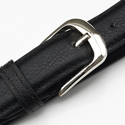 Mljsh-Women-Skinny-Leather-Belt-with-Silver-Square-Pin-Belt-Buckle-Solid-Color
