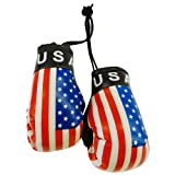 USA Country Flag Mini Boxing Gloves to Hang Over Your Automobile Mirror ...United States ... New