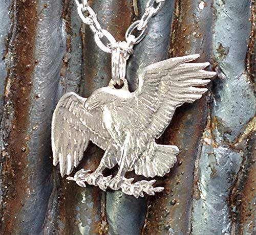 Eagle USA Dollar Cut Coin Jewelry Pendant Necklace