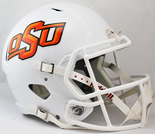 NCAA Oklahoma State Cowboys Full Size Speed Replica Helmet, Orange, Medium by Riddell
