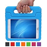 Color Our Life Samsung Galaxy Tab A 8.0 Kids Case, EVA Full-body Protective Cover with Handle Stand and Light Weight Shock Proof Kids Friendly Child Case for Samsung Tab A 8-Inch SM-T350 (Bule)