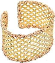 Pulseira Bracelete Caseado Com Palha