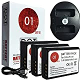 DOT-01 3X Brand 2000 mAh Replacement Canon LP-E10 Batteries and Dual Slot USB Charger for Canon EOS Rebel T5 Digital SLR Camera and Canon LPE10