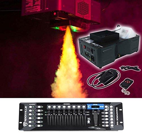 American DJ Fog Fury Jett Vertical Fog Machine+Wireless Remote+DMX Controller ()