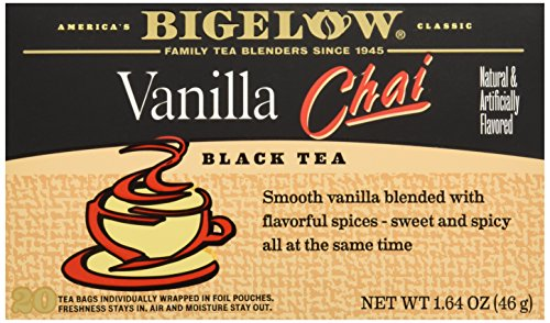 Bigelow Vanilla Chai Tea Bags - 20 Tea bags, 1.64 (Bigelow Honey)