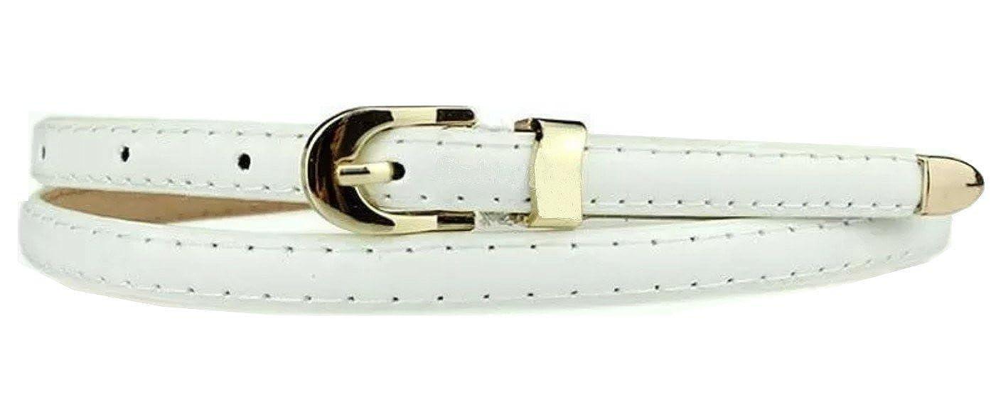 Ceinture fine en simili cuir - Pour femmes - Sucre Belts® - Blanc - blanc,   Amazon.fr  Chaussures et Sacs bb323078166