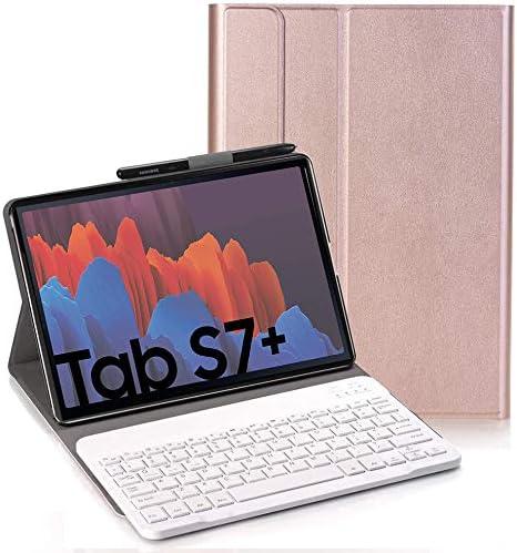 RLTech Teclado Funda para Samsung Galaxy Tab S7+, QWERTY ...