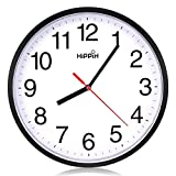 Hippih clock Black Wall Clock Silent Non Ticking Quality Quartz