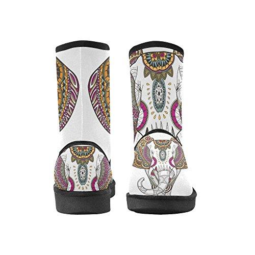 D-story Mode Femmes Chaussures Crâne Femmes Bottes De Neige Color15