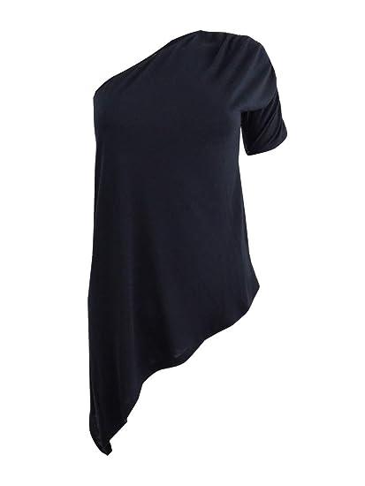 31eba7a1a8b0c Amazon.com  RACHEL Rachel Roy Womens Asymmetrical One-Shoulder Knit Top   Clothing