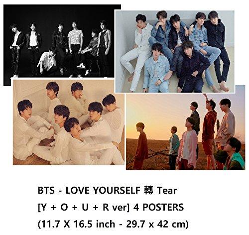 Bts LOVE YOURSELF 轉 Tear [Y+O+U+R ver] 4 POSTERS(11.7 X 16.5 inch)