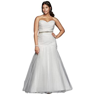 David\'s Bridal Sample: As-is Strapless Mermaid Plus Size Wedding ...