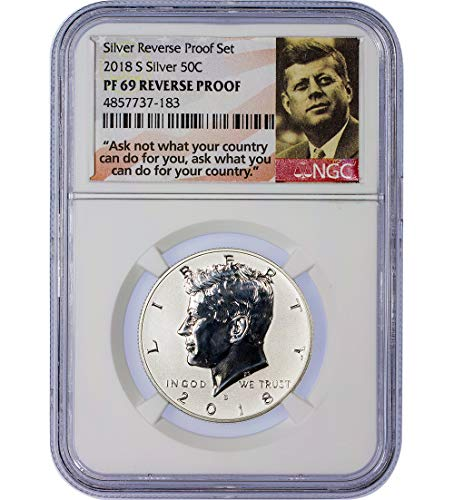 2018 S Reverse Proof Kennedy Half Dollar PF69 NGC